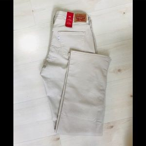 NWT LEVI'S 505 Straight khaki Jeans size 30 or 10